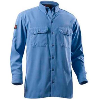 DRIFIRE® Flame Resistant Utility Shirt, XL, Medium Blue, DF2-324LS-MB-XL