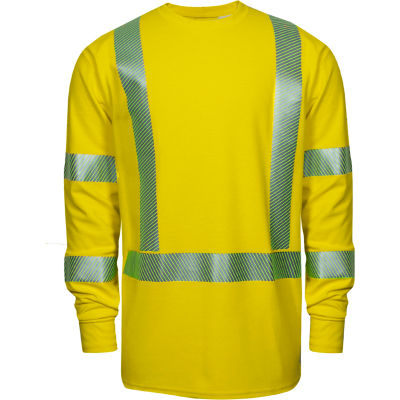 DRIFIRE® Performance Hi-Vis Long Sleeve FR T-Shirt, Type R, Class 3, XL-T, Yellow