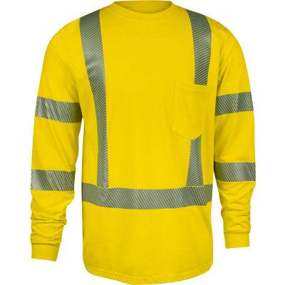 DRIFIRE® StrongKnit Hi-Vis Long Sleeve FR T-Shirt, Type R, Class 3, XL, Yellow