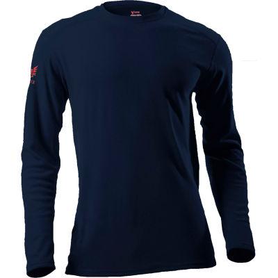 DRIFIRE® Performance Long Sleeve Flame Resistant T-Shirt, S, Navy, DF2-CM-265ALS-NB-SM