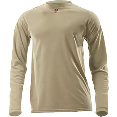 DRIFIRE® Lightweight Long Sleeve FR T-Shirt, M-T, Desert Sand, DF2-CM-446LS-DS-MDT