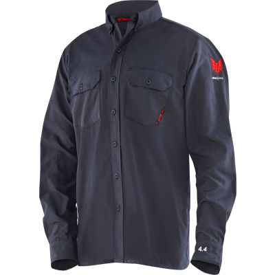 DRIFIRE® Flame Resistant 4.4 Work Shirt, M, Navy Blue, DF2-CM-450C-LS-NB-MD