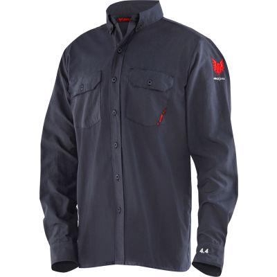 DRIFIRE® Flame Resistant 4.4 Work Shirt, XL, Navy Blue, DF2-CM-450C-LS-NB-XL