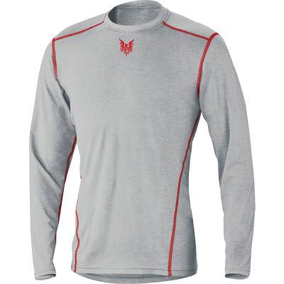 DRIFIRE® PRIME Long Sleeve Flame Resistant T-Shirt, L, Gray, DF2-CM-762-PLS-RG-LG