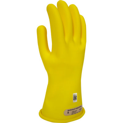 ArcGuard® Class 00 Rubber Voltage Gloves, Yellow, Size 10, GC00Y10