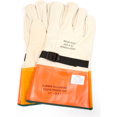 """ArcGuard® 12"""" Leather Glove Protectors, Size 8, DWH12L8"""