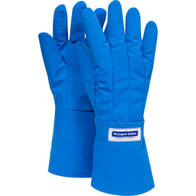 National Safety Apparel® Waterproof Mid-Arm Length Cryogenic Glove, Large, Blue, G99CRBEPLGMA