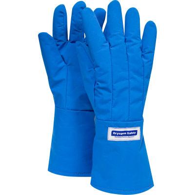 National Safety Apparel® Waterproof Mid-Arm Length Cryogenic Glove, Medium, Blue, G99CRBEPMDMA
