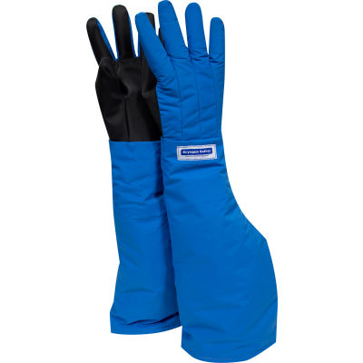 National Safety Apparel® Waterproof Shoulder Length Cryogenic Glove, Medium, Blue, G99CRBEPMDSH