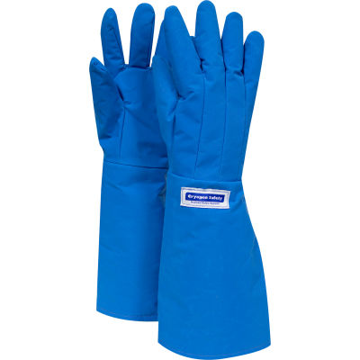 National Safety Apparel® Water Resistant Elbow Cryogenic Glove, Large, Blue, G99CRBERLGEL