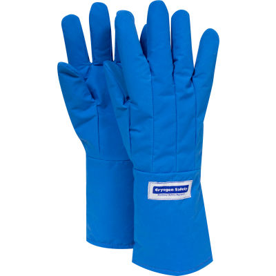 National Safety Apparel® Water Resistant Mid-Arm Cryogenic Glove, Medium, Blue, G99CRBERMDMA