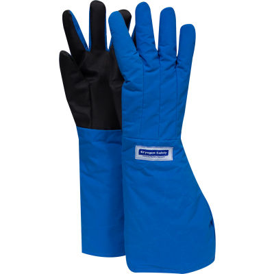 National Safety Apparel® SaferGrip Elbow Length Cryogenic Glove, Large, Blue, G99CRSGPLGEL
