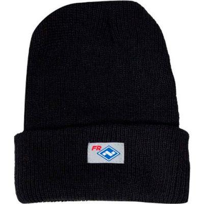 "National Safety Apparel® Flame Resistant Knit Winter Hat, 13 x 8-1/4"", Black, HNC2BKLG"