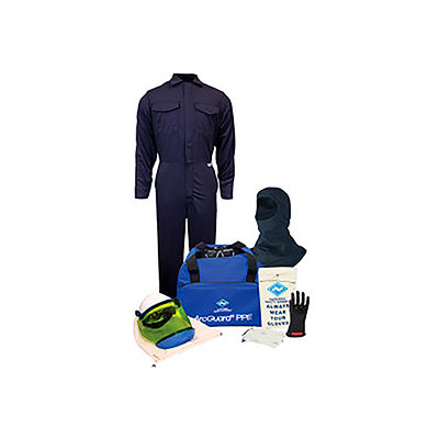 ArcGuard® KIT2CV08BXL11 8 cal/cm2 Arc Flash Kit w/ FR Coverall w/ Balaclava, XL, Glove Size 11