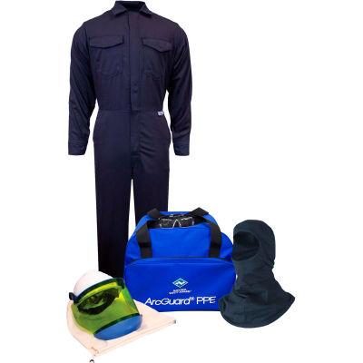 ArcGuard® KIT2CV11NGB3X 12 cal UltraSoft Arc Flash Kit FR Coverall & Balaclava, 3XL, No Gloves
