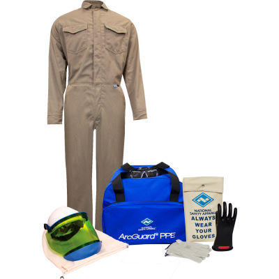 ArcGuard® KIT2CVPR08MD09 8 cal DuPont Protera Arc Flash Kit w/ FR Coverall, MD, Glove Size 09