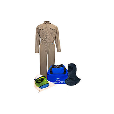 ArcGuard® KIT2CVPR08NGBL 8 cal DuPont Protera Arc Flash Kit FR Coverall & Balaclava, L