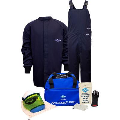 ArcGuard® KIT2SC11S08 12 cal Arc Flash Kit W/Short Coat & Bib Overall in UltraSoft, S, Sz 08