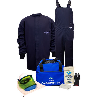 ArcGuard® KIT2SC11S09 12 cal Arc Flash Kit W/Short Coat & Bib Overall in UltraSoft, S, Sz 09