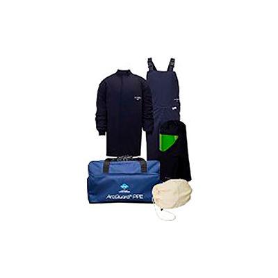 ArcGuard® KIT4SC40NG2X 40 cal Compliance Arc Flash Kit Short Coat & Bib Overall, 2XL, No Gloves