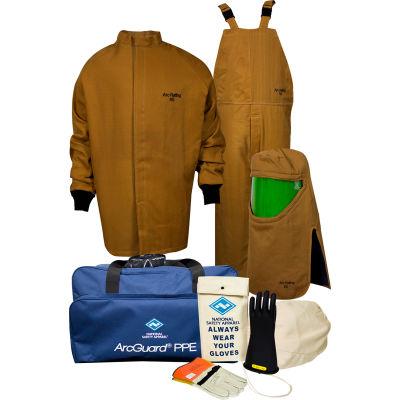 ArcGuard® KIT4SC65 LG08 65 cal/cm2 Arc Flash Kit, LG, Glove Size 08