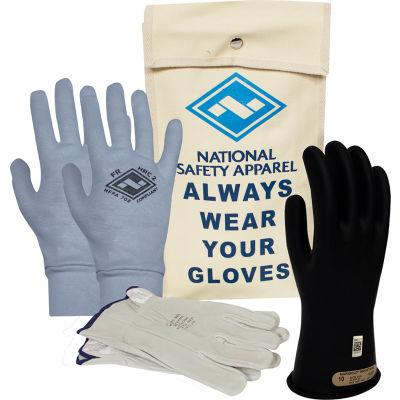 ArcGuard® Class 00 ArcGuard Rubber Voltage Glove Premium Kit, Black, Size 8, KITGC00B08AG