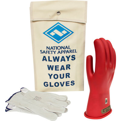 ArcGuard® Class 00 ArcGuard Rubber Voltage Glove Kit, Red, Size 11, KITGC00R11