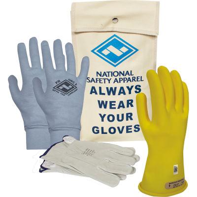 ArcGuard® Class 00 ArcGuard Rubber Voltage Glove Premium Kit, Yellow, Size 11, KITGC00Y11AG