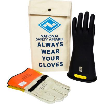 ArcGuard® Class 2 Rubber Voltage Glove Kit, Black, Size 9, KITGC2B09