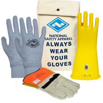 ArcGuard® Class 2 Rubber Voltage Glove Premium Kit, Yellow, Size 9, KITGC2Y09AG
