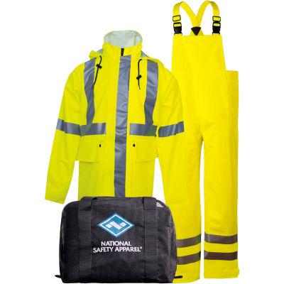 Arc H2O™ Flame Resistant Hi-Vis Rainwear Kit, ANSI Class 3, Type R, Yellow, 2XL