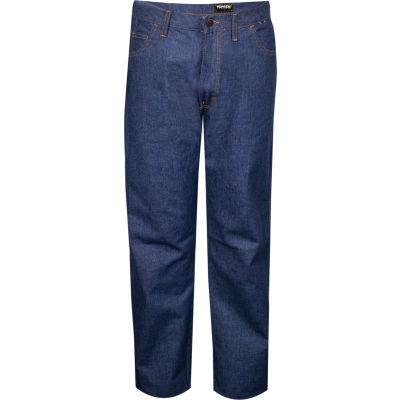 TECGEN Select® Flame Resistant Jeans, 38 x 34, Classic Denim, PNTJGJ38X34