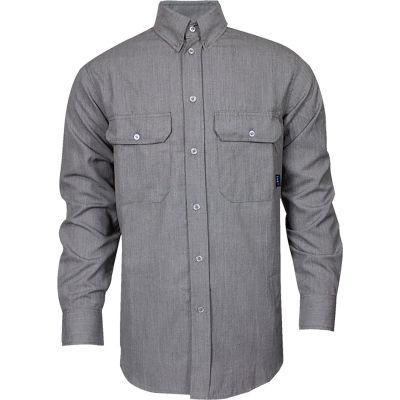 TECGEN CC™ 6 oz. Flame Resistant Work Shirt, 3XL-LN, Gray, SHR-DWWS02-GE3XLLN
