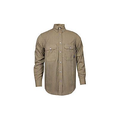 TECGEN CC™ 6 oz. Flame Resistant Work Shirt, 2XL-LN, Tan, SHR-DWWS02-TN2XLLN