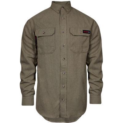 TECGEN Select® Flame Resistant Work Shirt, 4X, Tan, TCG01120231