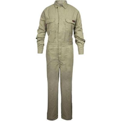 TECGEN Select® Women's Flame Resistant Coverall, L, Tan, TCGSCWN00112LGRG00
