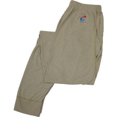 National Safety Apparel® Flame Resistant Control Long Underwear, 2XL, Tan, U51FRSR2X