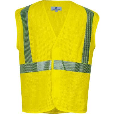 VIZABLE® Flame Resistant Standard Hi-Vis Mesh Safety Vest, ANSI Class 2, Type R, M, Yellow