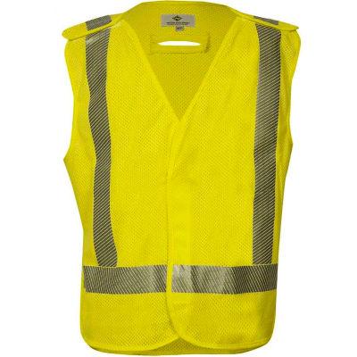 VIZABLE® Flame Resistant Standard Breakaway Vest, ANSI Class 2, Type R, 3XL, Yellow