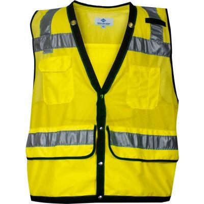 VIZABLE® Mesh Construction Survey Vest, ANSI Class 2, Type R, 3XL, Yellow