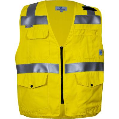VIZABLE® Flame Resistant Survey, ANSI Class 2, Type R, XL, Yellow