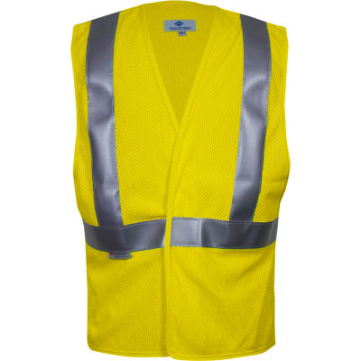 VIZABLE® Flame Resistant Contractor Road Vest, ANSI Class 2, Type R XL, Yellow