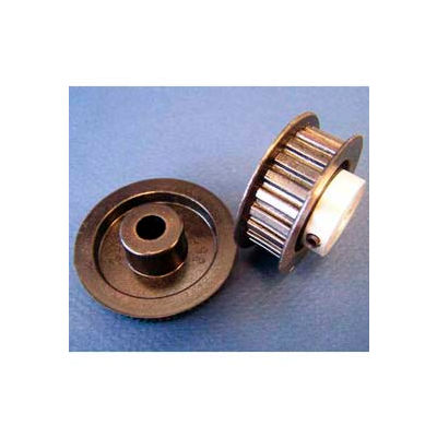 Plastock® Timing Belt Pulley 12t0800dfah1s, Lexan, Al Hub, Dbl Flange, 0.8 Ptch, 12 Teeth