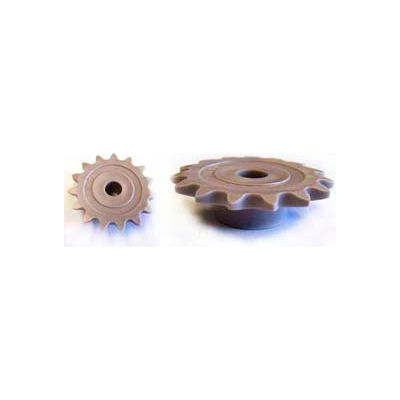 Plastock® #25 Roller Chain Sprockets 19ts, Acetal, 1/4 Pitch, 19 Tooth Roller
