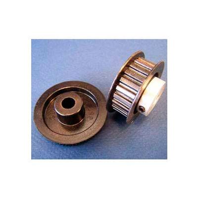 Plastock® Timing Belt Pulley 21t0800dfah1s, Lexan, Al Hub, Dbl Flange, 0.8 Ptch, 21 Teeth