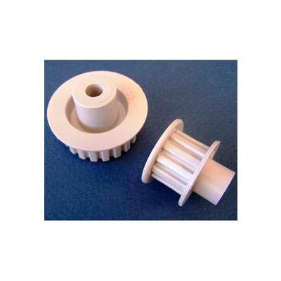 Plastock® Timing Belt Pulleys 28xldf, Acetal, Double Flange, 1/5 Pitch, 28 Teeth