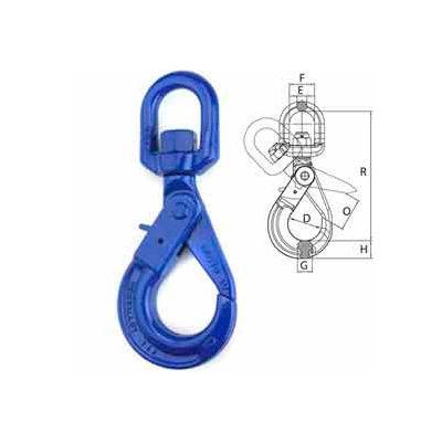 """Peerless™ 8499600 1/2"""" V10 Swivel Self-Locking Hook"""