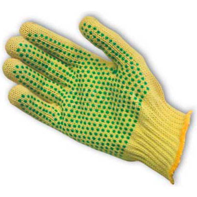 PIP Kut-Gard® Kevlar® Gloves, 100% Kevlar®, Medium Weight, PVC Dots Two Sides, S