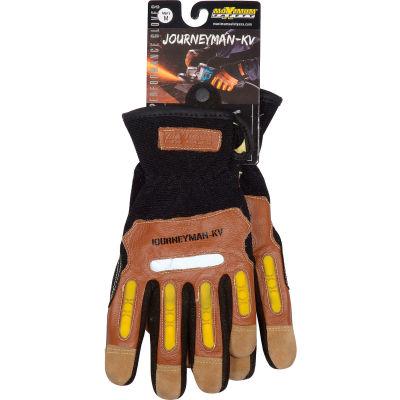 PIP Maximum Safety® Journeyman KV, Professional Workman's Glove, Brown, M, 1 Pair