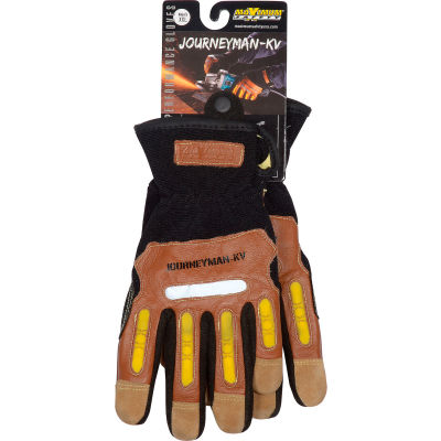 PIP Maximum Safety® Journeyman KV, Professional Workman's Glove, Brown, XXL, 1 Pair